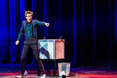 Chris Cox On Stage In The Illusionists